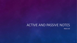 Active and Passive notes