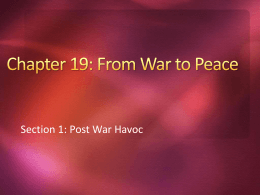 Chapter 19: From War to Peace