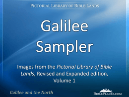 Galilee - BiblePlaces.com