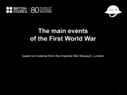 First World War PowerPoint template
