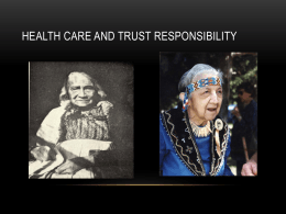 Health Care and Trust Responsibility