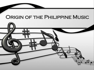 Origin of the Philippine Music