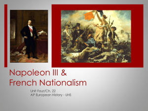 Napoleon III & French Nationalism