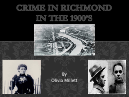 Crime in Richmond in the 1900*s