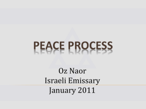 Peace process - Canton Jewish Community Center