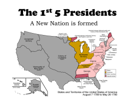1st Five Presidents PPT