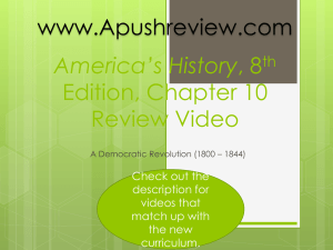 America`s History Chapter 10
