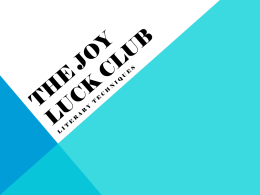 The Joy Luck Club - DiscussionQuestions10