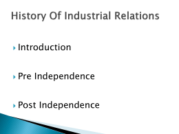 History Of Industrial Relations