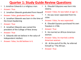 Semester 1 Review Questions