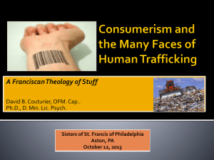 Consumerism and the Many Faces of Human Trafficking