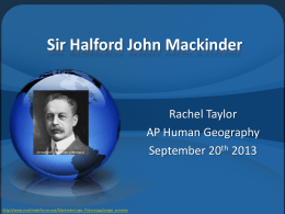 Sir Halford John Mackinder