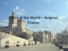 Cities of the world – Avignon (informative)