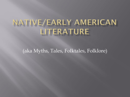 Native/Early American literature