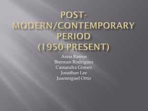 Post-Modern/Contemporary Period (1950