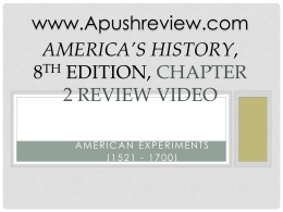 America`s History Chapter 2
