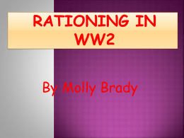 Molly Rationing in WW2