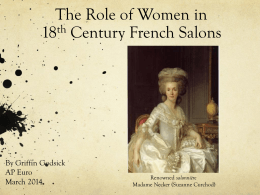 Women*s Roles in 18th Century French Salons