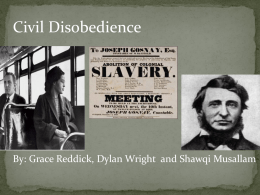 Civil Disobedience PowerPoint