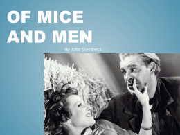 Of mice and men powerpoint lesson 1