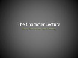 Character PowerPoint
