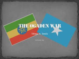 The ogaden war - IB-History-of-the
