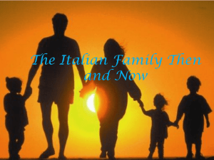 The Italian Family Then and Now