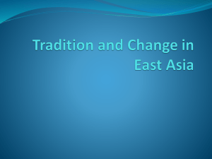 Chapter 27 Tradition and Change in East Asia