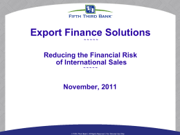 Reducing Financial Risk in International Sales