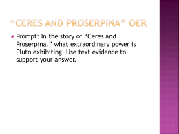 *Ceres and Proserpina* OER