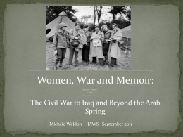 Women, War and Memoir - Journalism and Women Symposium