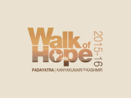 Sri M - What is Walk of Hope?