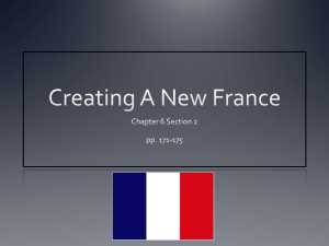 Creating A New France