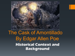 The Cask of Amontillado By Edgar Allen Poe