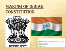 Making Of Indian Constitution PPT
