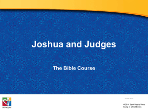 3-PowerPoint Joshua_and_the_Judges
