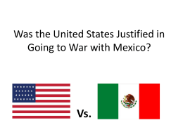 Mexican War DBQ Documents and Answers