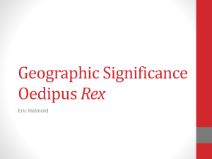 Geography of Oedipus Rex