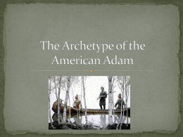 The Archetype of the American Adam
