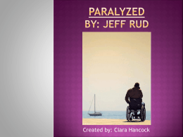 Paralyzed By: Jeff RUD