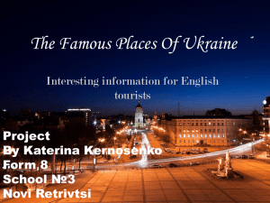 The Famous Places Of Kyiv