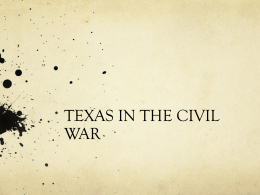 TEXAS IN THE CIVIL WAR