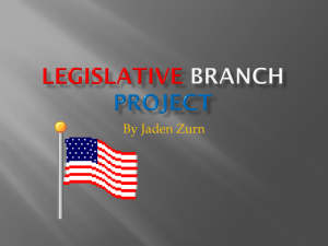 Legislative Branch project