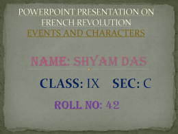 FRENCH REVOLUTION - e-CTLT