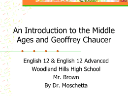 Introduction to Chaucer and Canterbury Tales PPT