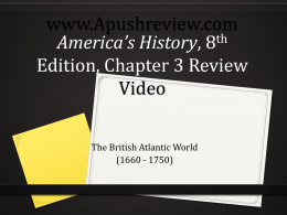 America`s History Chapter 3