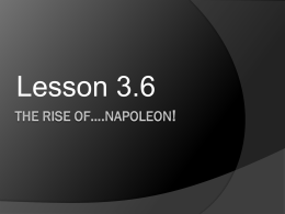 3.6 The Rise of Napoleon