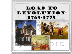 Causes of the American Revolution PPT