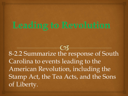 8-2.2 Events Leading to the Revolution