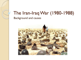 The Iran-Iraq War causes
